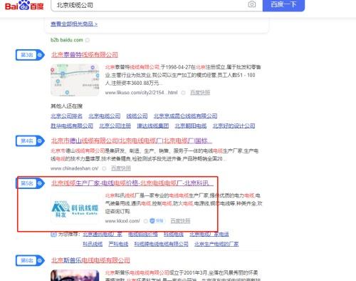 北京科*讯电线电缆厂与我公司合作seo优化